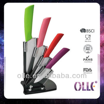 kitchen colorful handle ceramic cutlery knife