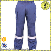 Zipper cargo pants with reflective tap