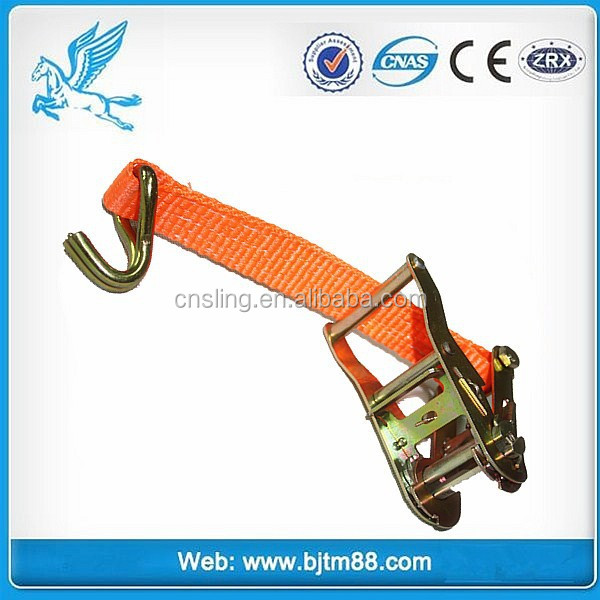 Lashing Capacity 2500kg 2 Inch Ratchet Tie Down | Elastic Tie Down Strap | Ratchet Lashing Strap