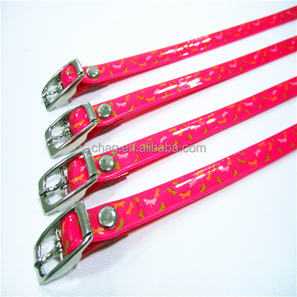 Tpu Coated Colorful Nylon Webbing Collar For Lovable Dogs And Cats