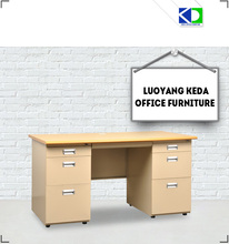 wood and steel office executive table design