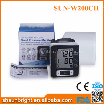 Sun-W200CH Colorful Cheap battery wrist high accuracy Blood Pressure Monitor