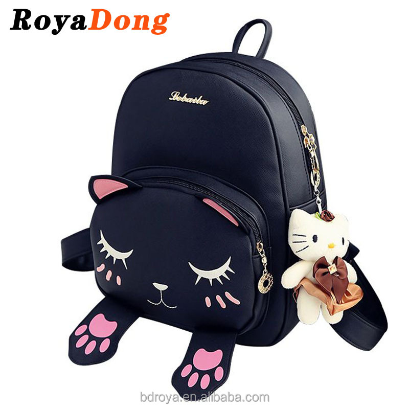 Royadong 2017 New Korean Style Fashion Cute Youth All-match Pu Leather Young Women Leather <strong>Backpack</strong>