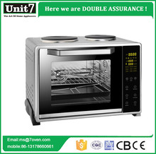 China supplier high quality chicken/bread oven manufacturers oven toaster grill electronic control LED display with 2 hot plate