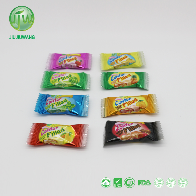 JJW/OEM Africa hot sale original factory liquid center filled bubble gum: fruit flavors; 150pcs per