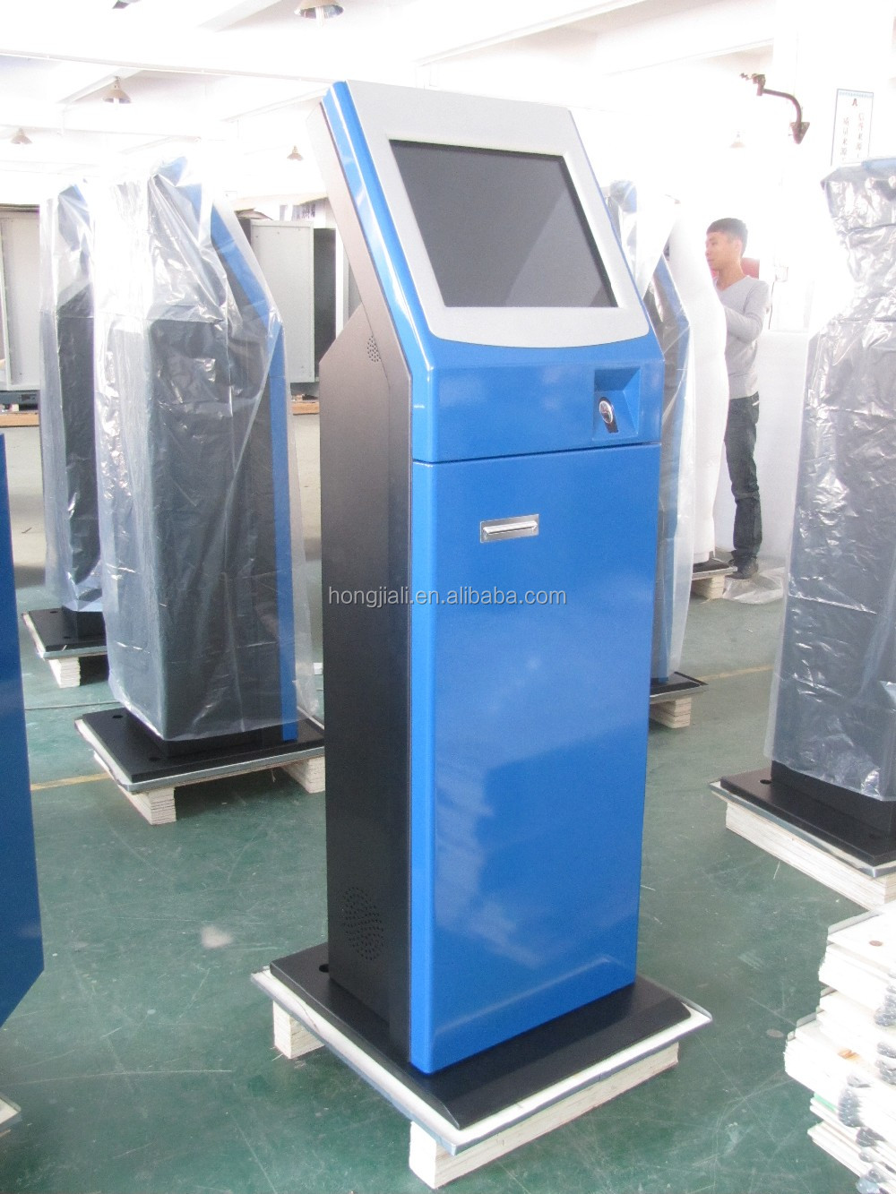 Automatic queue ticket dispenser machine and vending machine