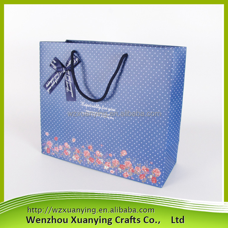 Promotional Cheap Custom reusable shopping bag, paper shopping bag With Color Printing