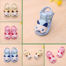 B20748A baby summer sandals wholesale cute cartoon soft sole toddler shoes