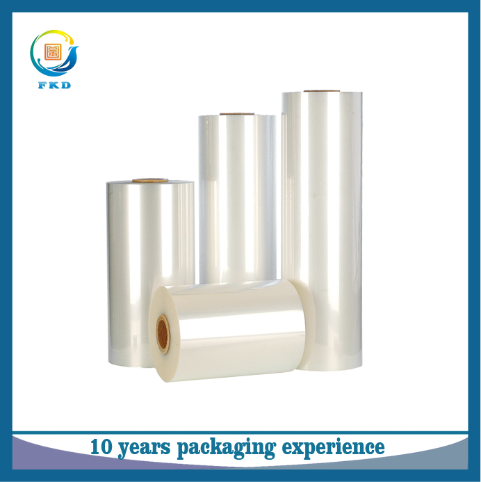 Customized PVC,PET,POF,PE clear biodegradable heat shrink plastic film for packaging