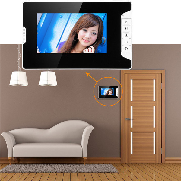 "7"" TFT Color Display Wired Video Door Phone Doorbell Intercom System"