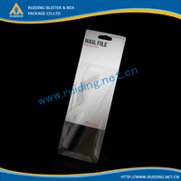 folding packaging plastic pvc box inserted card