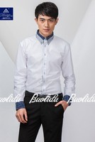 Men's New Stylish Contrast Color Oxford Formal Dress Shirts