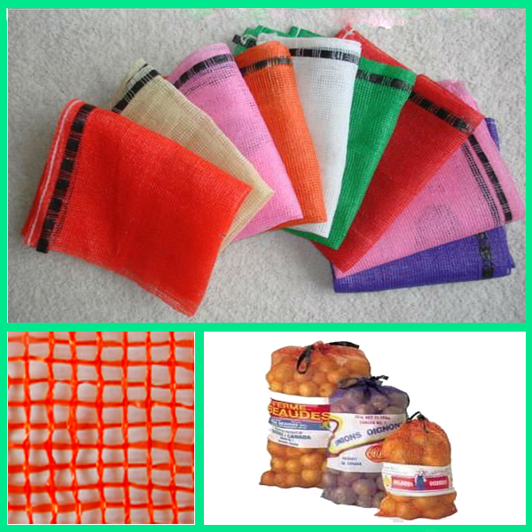 2015 new drawstring mesh bag for packing fruit and vegetables