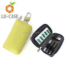 Solid color PU leather with Key chain Ploom tech case electronic cigarette