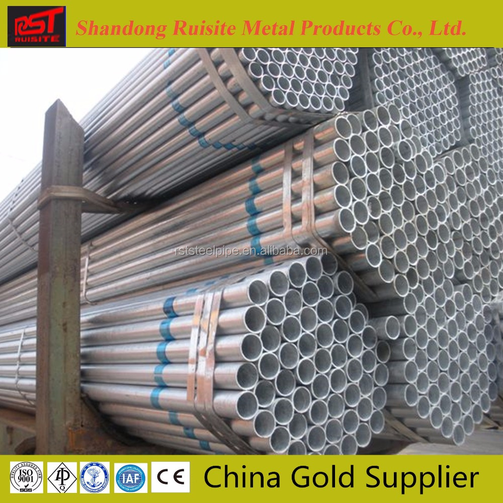 Anti-corrosion Coating Galvanized Steel Pipe Building Material