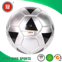 5# Sewing Shining laser Leather PVC Material Training Football Soccer ball OEM Manufacture