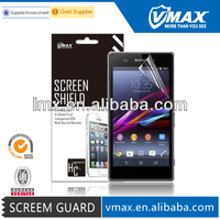 Color lcd screen protector film for Sony xperia z1 l39h oem/odm (High Clear)
