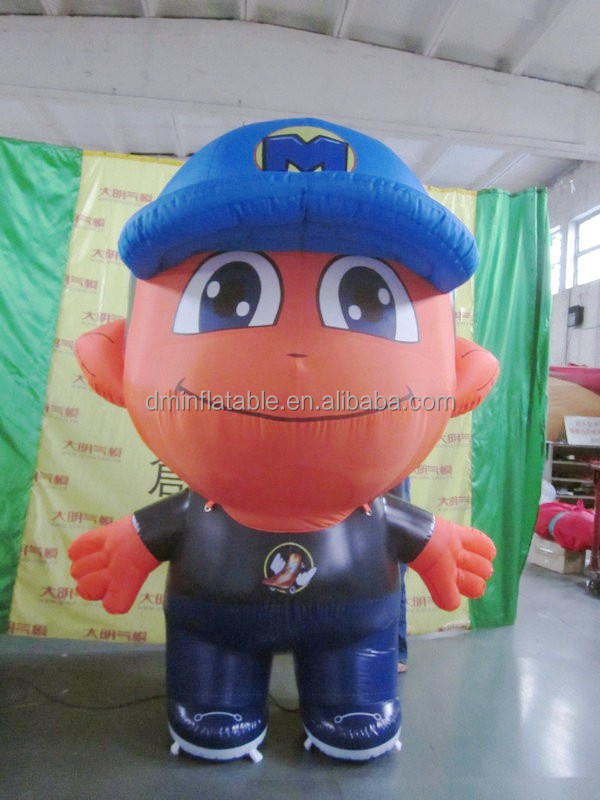 customized new design giant inflatable cartoon character balloon of boy