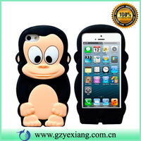 For iphone 4 4S cute 3D black cartoon silicone phone cover