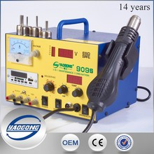 New item all in one work station 909S with Hot Air Suction Soldering iron dc power supply test