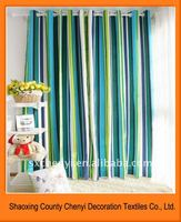 sales Eyelets top blackout blue and white striped curtain