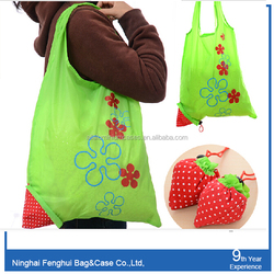 fashional designs fruit foldable shopping bags