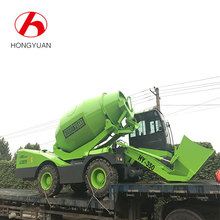 Self loading mini concrete mixer