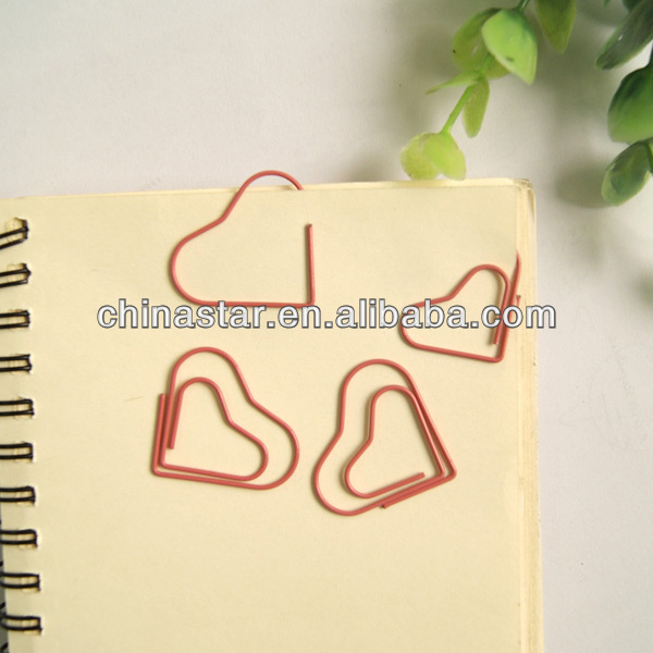 The best selling and good looking heart shpe pink paper clip