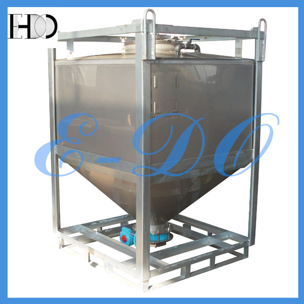 1000L Custom-made Stainless steel IBC tanks for powder/IBC Container for Powder with conical bottom