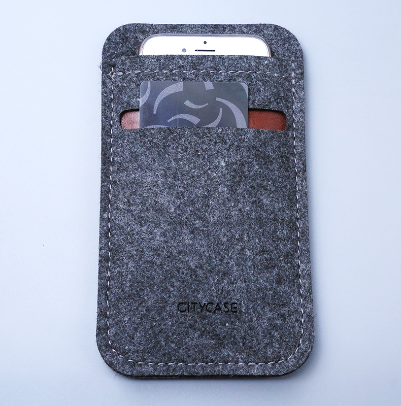 city&case Hot selling felt sleeve case for iphone 6 6plus
