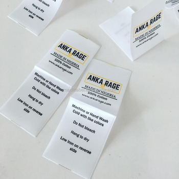 2017 custom high quality satin damask printed labels