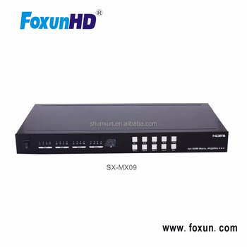 FOXUN SX-MX09 4 to 4 HDMI 2.0 Matrix 4K@60HZ YUV4::4:4, 18 Gbps, HDR, IR routing, RS232, HDCP2.2