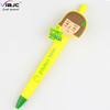Japan Lovely Dress Girls Ballpoint Pen with logo pvc for kids and Stationery