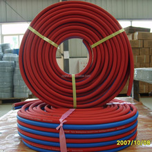 Flame Retardant PVC oxygen acetylene twin welding gas pipe, natural gas flexible rubber hose pipe