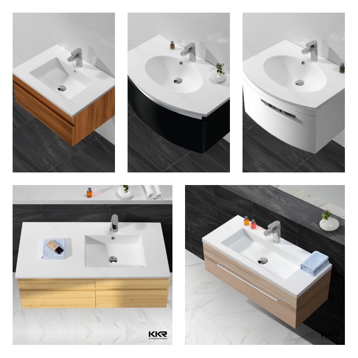 Commercial Solid Surface Bathroom Face Basin
