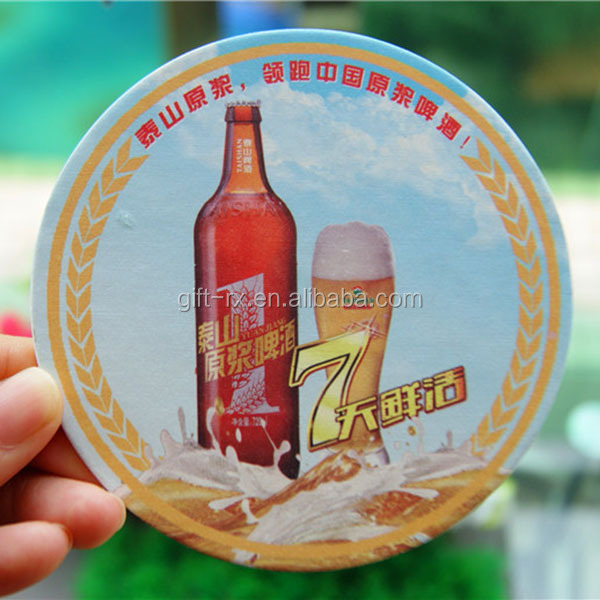 Promotion cheap absorbent waterproof paper cardboard beer coaster