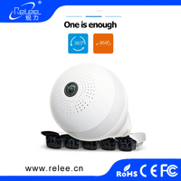 360 degree fisheye 2.0 megapixel HD 1080p White LEDS panoramic home intelligent IP wireless wifi bulb camera