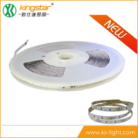 CE/RoHs 30M/roll led light strip 10mm 5W/M SMD2835 flexible battery powered LED strip light wholesale