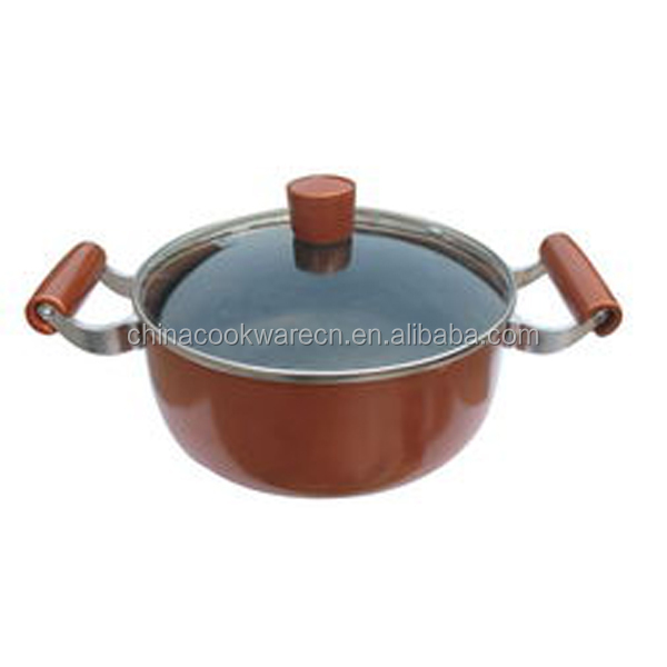 Special aluminium non-stick cooking pot with lid