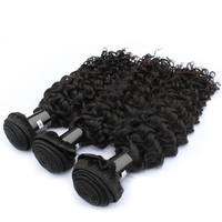 One Donor Mink Double Weft Curly Hair Bundle Deals Lace Closure Hair Vendors