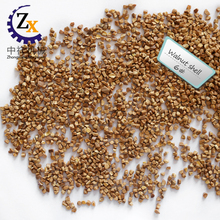 Dry walnut shell for plastic surface cleaning