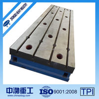Cast iron T-slotted welding and reviting plate