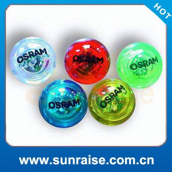 100mm dia flashing bouncing ball with liquid inside