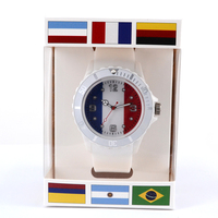 Hot silicone products 2018 Russia world cup France national flag watch