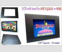 "22"" POG WMS Touch Panel Monitors 3M Controller Screen Open Frame LCD Game Monitors with Bezel"