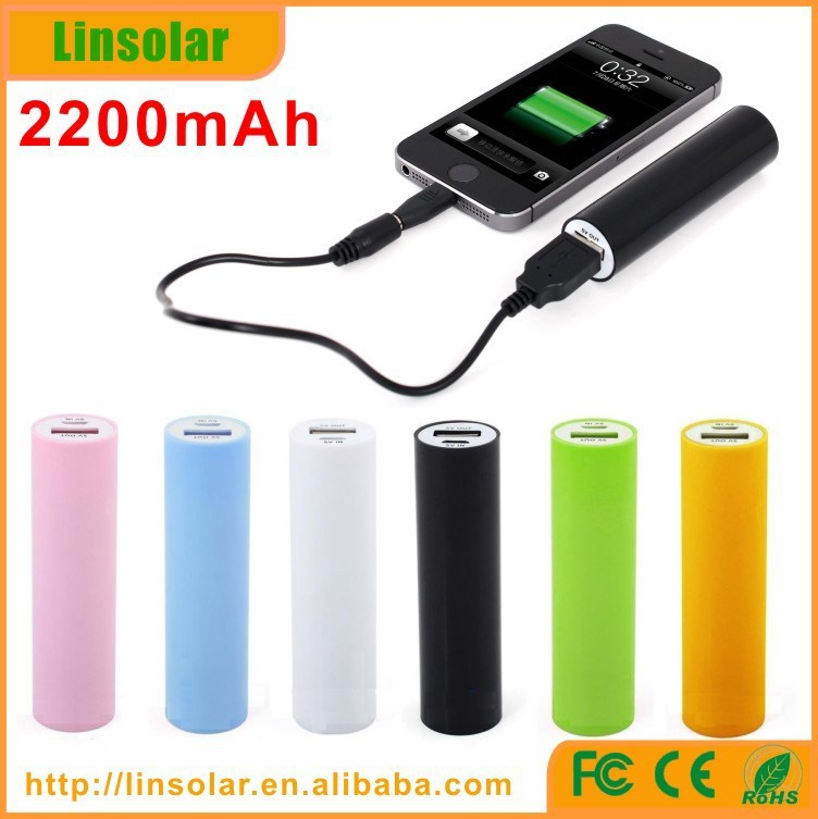 2200mAh lipstick emergency mobile phone charger, lipstick phone charger