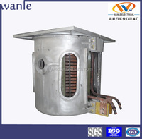 easy operating electric induction furnace aluminum melting pot/machine for sale