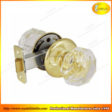 Brass Glass Mortice Door Knob Pair Polished Chrome 60mm