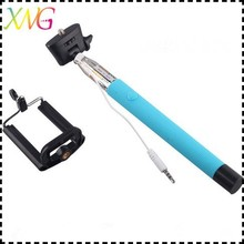battery free selfie stick extendable cable control self-portrait monopod pole with mount holder