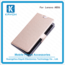 [kayoh]New product Silk pattern phone cases Leather flip cover case for Lenovo A806